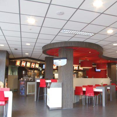 Systeemplafond Snackbar