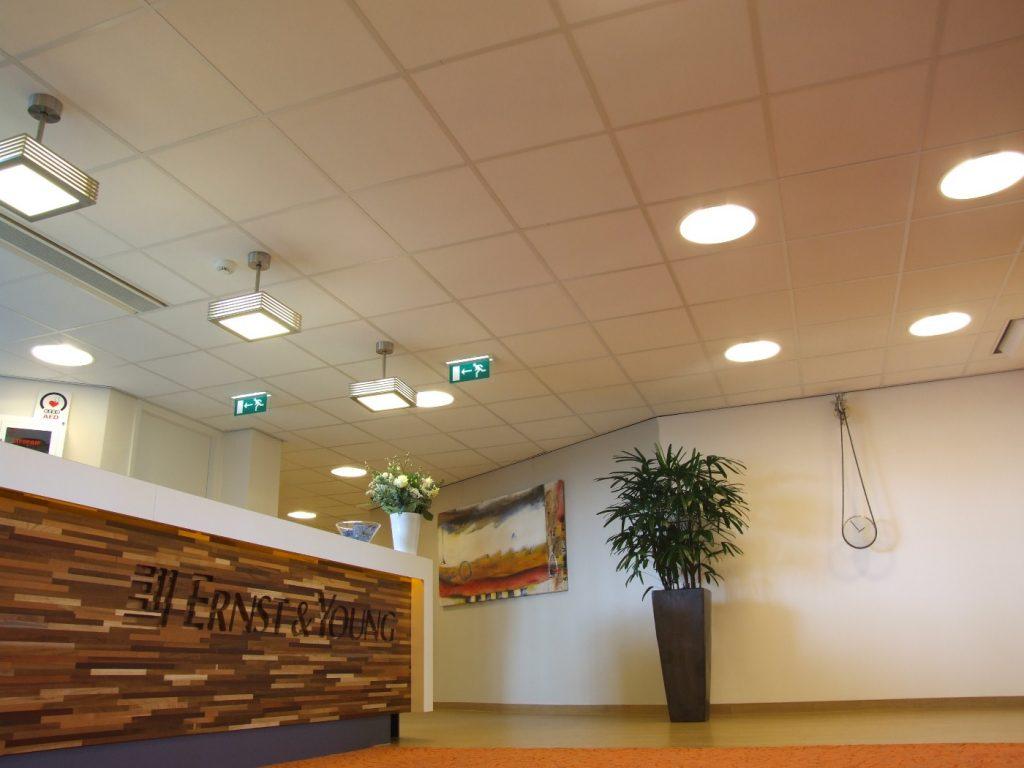 Systeemplafond kantoor - Systeemplafonds.nl