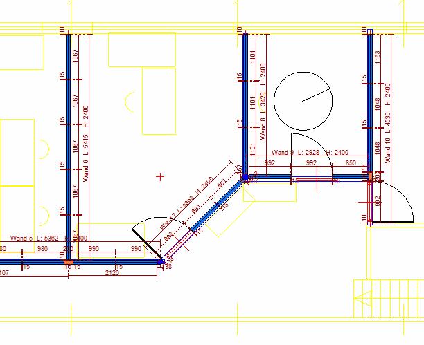 tekening systeemwanden renovatie