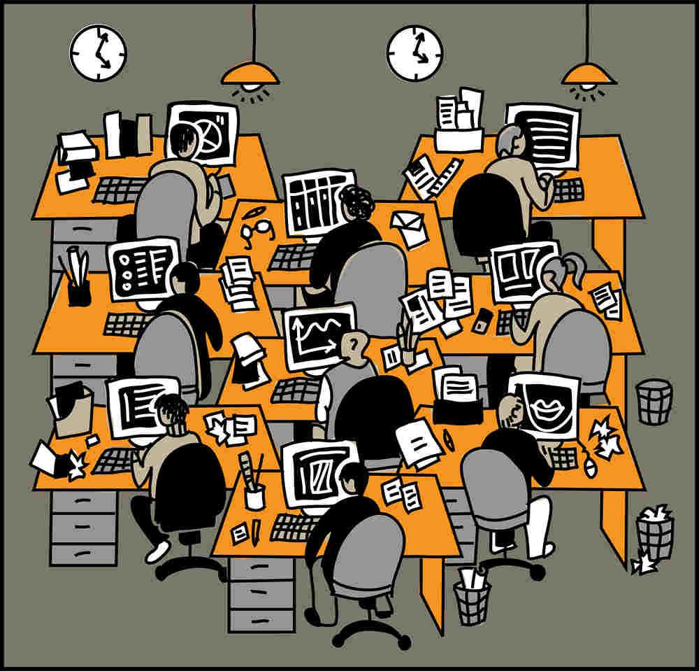 geluidsdemping-kantoor-illustratie-kantoortuin